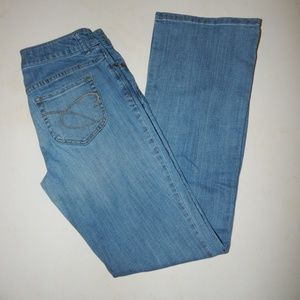 Chico's Size 00 Barely Flare Jeans Pre-owned